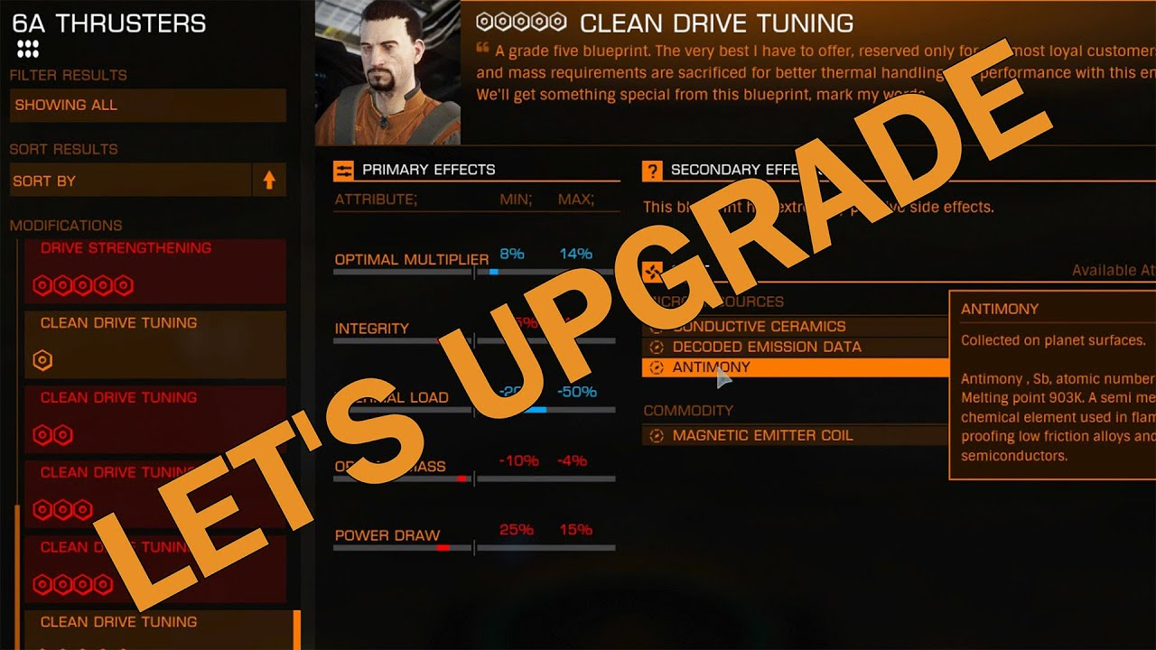 Elitedangerous lets upgrade clean drive tuning thrusters grade elitedangerous lets upgrade clean drive tuning thrusters grade 5 malvernweather Image collections