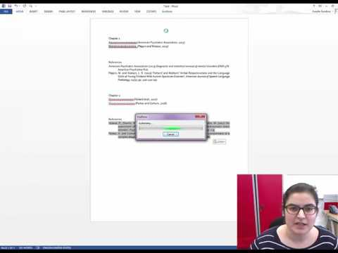 Merging the references from two different Word documents