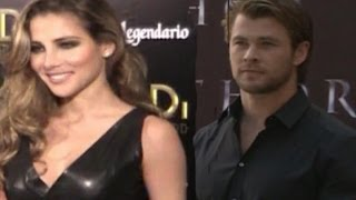 Elsa pataky besó a chris hemsworth en 'thor'