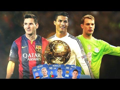 2014 Ballon d'Or Final RONALDO, MESSI & NEUER