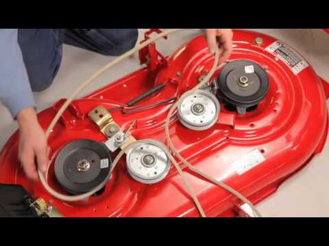 Murray Riding Mower Wiring Diagram Gm Oil Pressure Switch How To Change The Deck Belt | Troy-bilt Lawn - Youtube