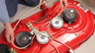 Watch as well Troy Bilt Pony Wiring Diagram also 130140 La135 Drive Belt Tension Pulleys additionally How To Replace A Troy Bilt Mower Blade For Riding Mowers together with Troy Bilt Super Bronco Riding Mower 688418. on troy bilt bronco lawn tractor belt diagram