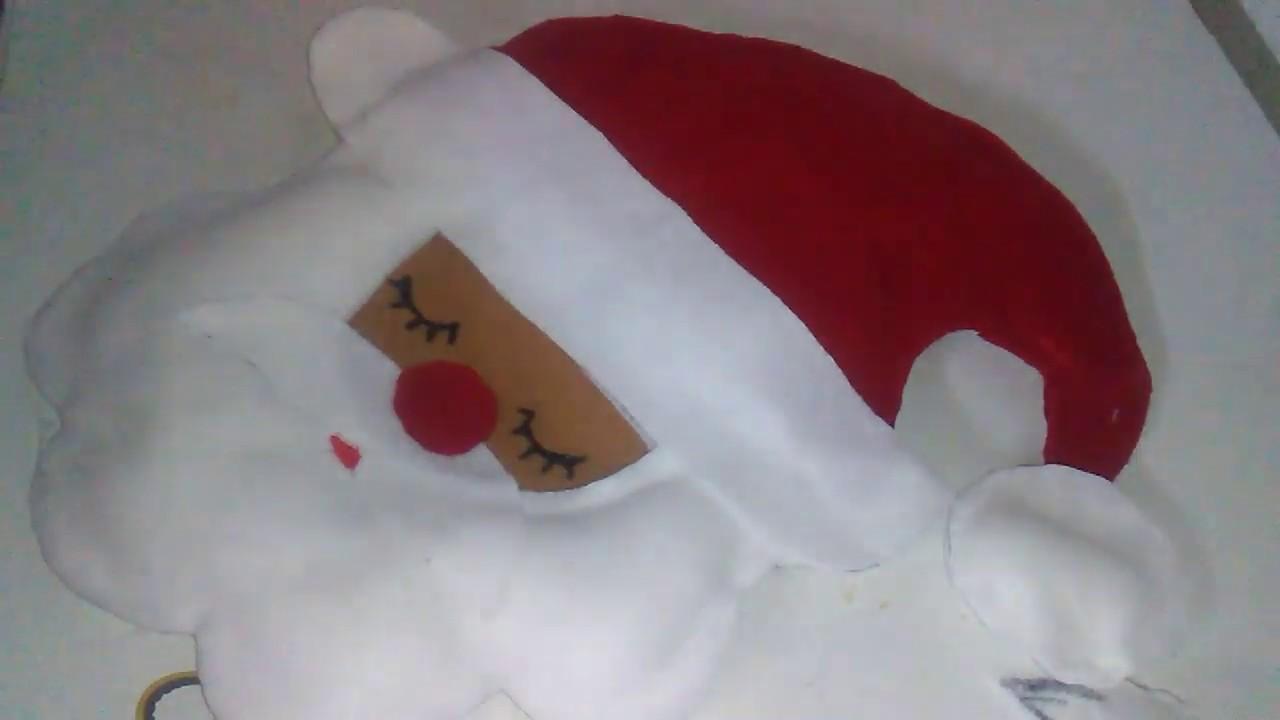 Santa Claus En Fieltro Facil Y Rapido Adorno De Navidad Papa Noel Youtube