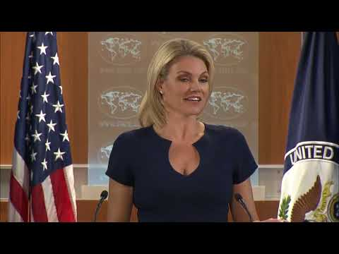 WATCH: Heather Nauert Department Press Briefing on President Donald Trump News - October 10, 2017