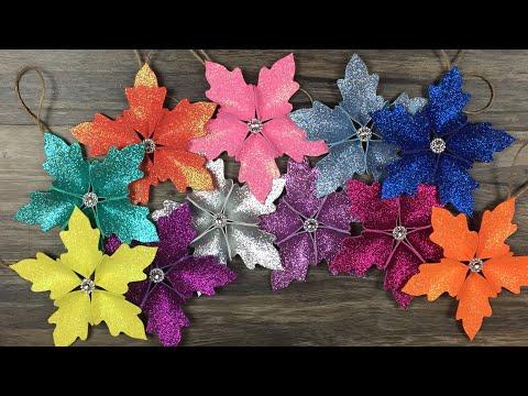 DIY:  How to make Christmas tree flower ornaments / Christmas decoration / Decoracion para Navidad