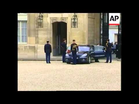 Polish President Kaczynski meets French Pres Chirac