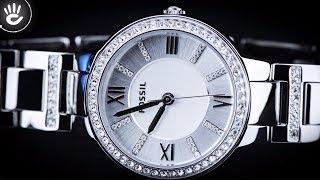 Review đồng hồ Fossil ES3282 dây đeo cùng viền đồng hồ được đính các viên kim cương tinh xảo