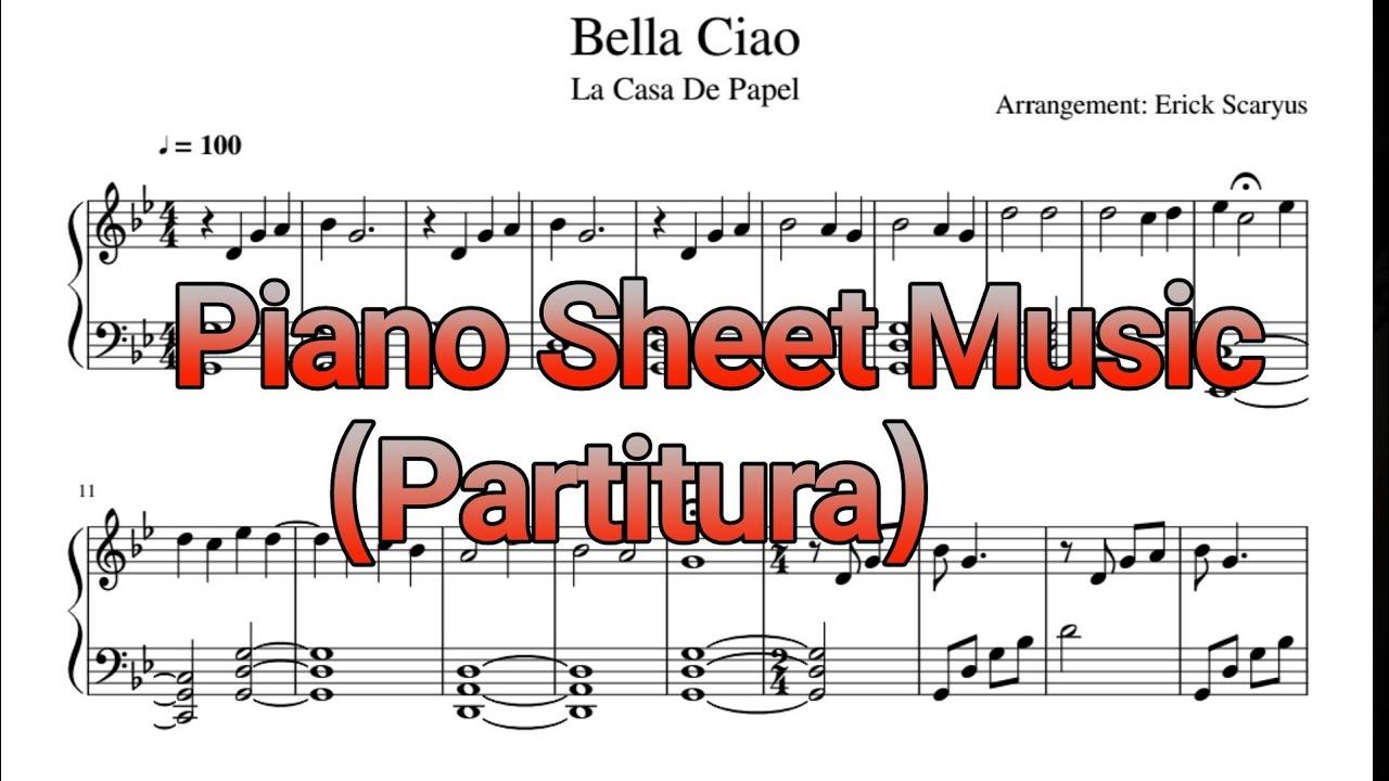 La Casa De Papel Bella Ciao Piano Sheet Music Youtube