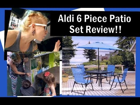 Aldi Patio Set!! Gardenline 6 Piece Patio Furniture Assembly & Review!!