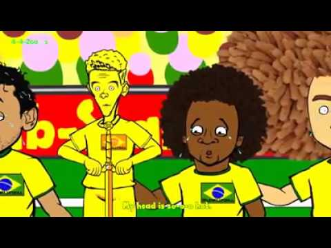 Brazil vs Mexico Highlights...world cup 2014