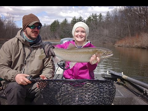Spring Steelhead Fishing On The Muskegon River
