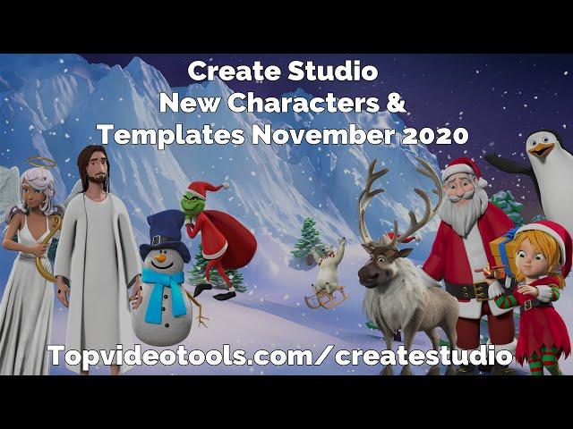 Create Studio November 2020 Update: New Templates & Christmas Characters