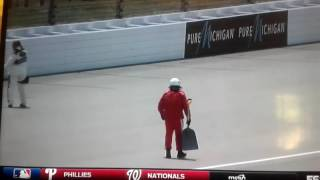 Loose groundhog at NASCAR Xfinity Series practice @ Michigan 2016!