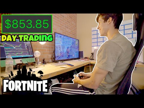 $850 PROFIT Day Trading Stocks & Playing Fortnite