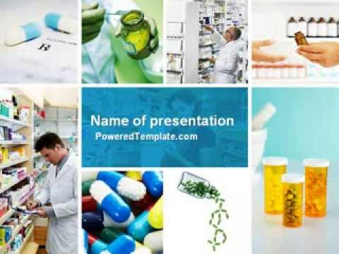 Pharmacy collage powerpoint template by poweredtemplate youtube toneelgroepblik Choice Image