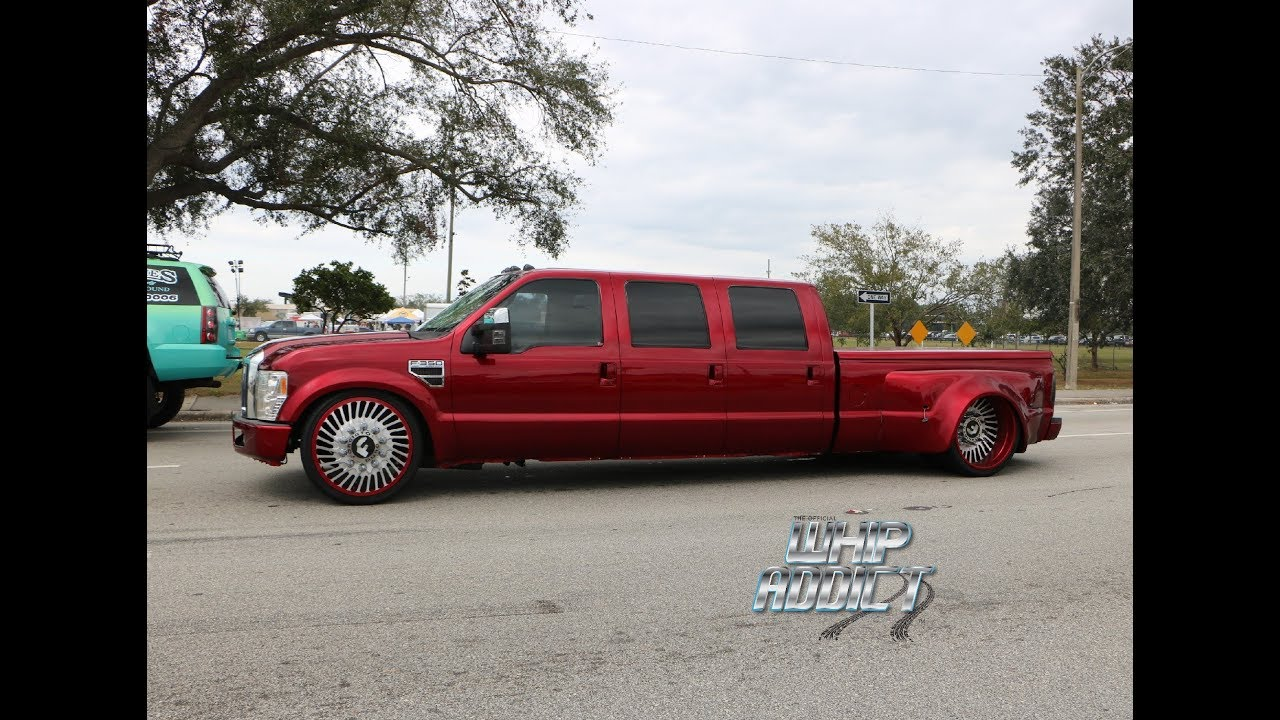WhipAddict Bagged Kandy Ford Dually with 6 Doors Pulling the Kandy Corvette on Forgiato 30s! & WhipAddict: Bagged Kandy Ford Dually with 6 Doors Pulling the Kandy ...