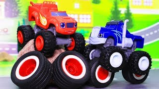 Вспыш и чудо машинки: Мультики с игрушками. Чужие шины! Машинки Вспыш. Мультфильмы 2019