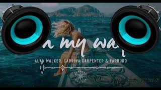 Alan Walker - On My Way (BASS BOOSTED) (Feat. Farruko & Sabrina Carpenter)