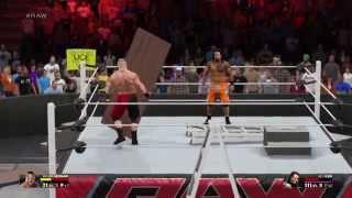 WWE 2K15 Brock Vs Jey Uso TLC Episode 1