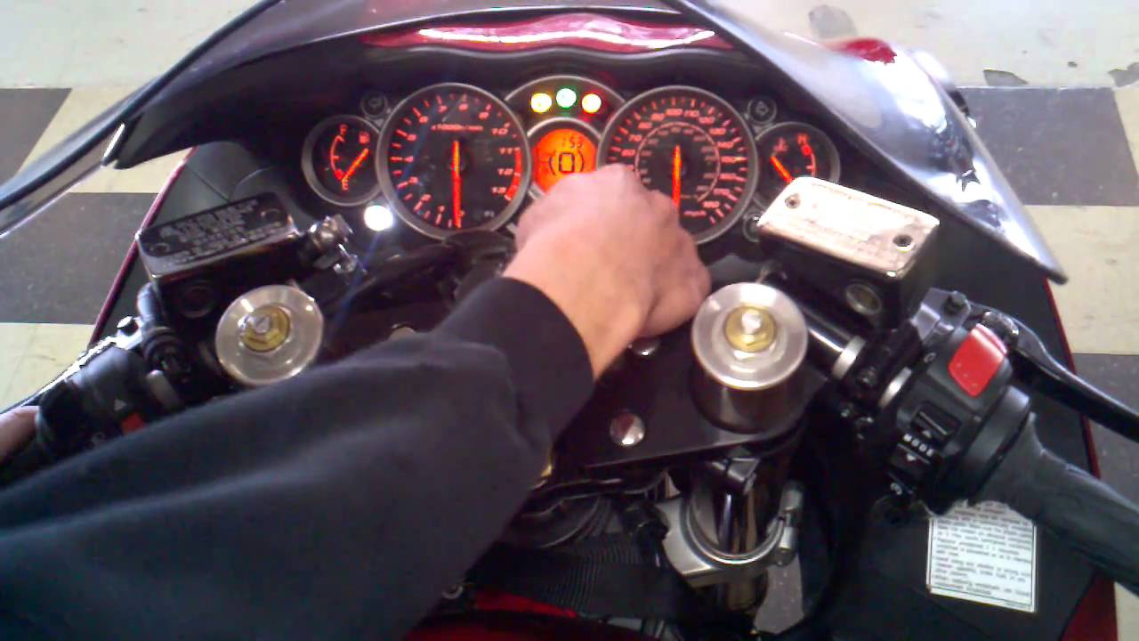 How To Set The Shift Light On A Hayabusa Youtube Msd Wiring Diagram