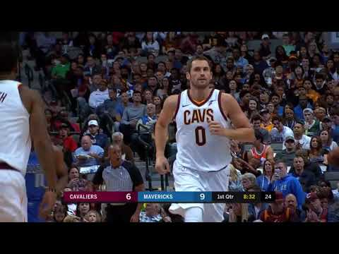 Kevin Love 29 pts, 15 rebs, 3 asts! Dallas Mavericks vs Cleveland Cavaliers, 2017-11-11