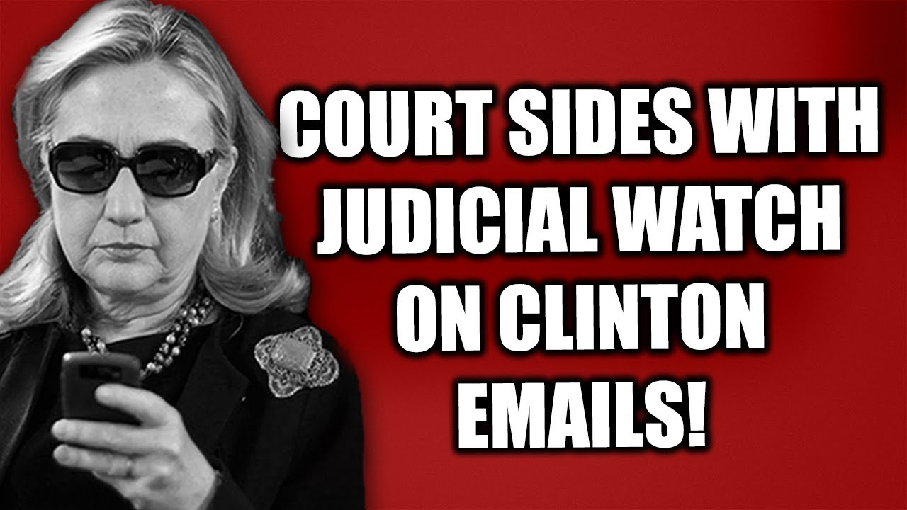 Fed. Court AGREES with Judicial Watch--Time to Hear DIRECTLY from Hillary on Private Email Server!