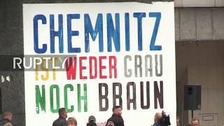 LIVE: Anti-migrant 'silent march' takes place in Chemnitz, counter-protest expected