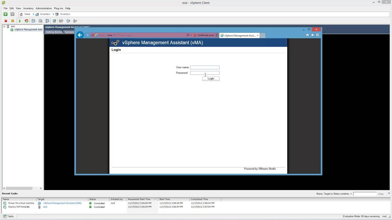 how to install and configure vmware vsphere management assistant