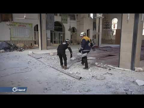 جرحى بقصف مدفعي لميليشيا أسد الطائفية على بلدة حريتان شمال حلب - سوريا