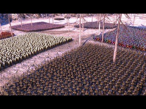 Битва 8 армий! Все друг против друга! Люди, орки, скелеты, зомби! Ultimate Epic Battle Simulator!