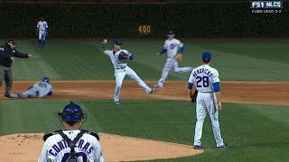 NLCS Gm6: Baez hustles to turn athletic double play