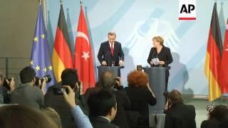 Injured Syrians are treated in Turkey, Erdogan, Merkel comment on refugees