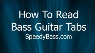 How To Read Bass Guitar Tabs