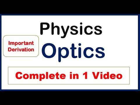 Ray optics class 12 notes with derivations