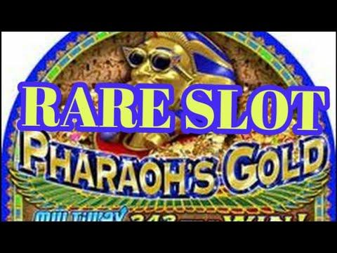 **RARE SLOT MACHINE**  PHAROAHS GOLD☆ Free Spins☆Re-triggers