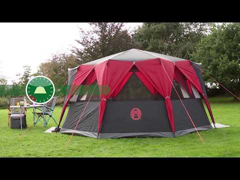 Coleman® Festival Zelt Octagon - großes Zelt für 8 Personen mit 360° Rundumblick