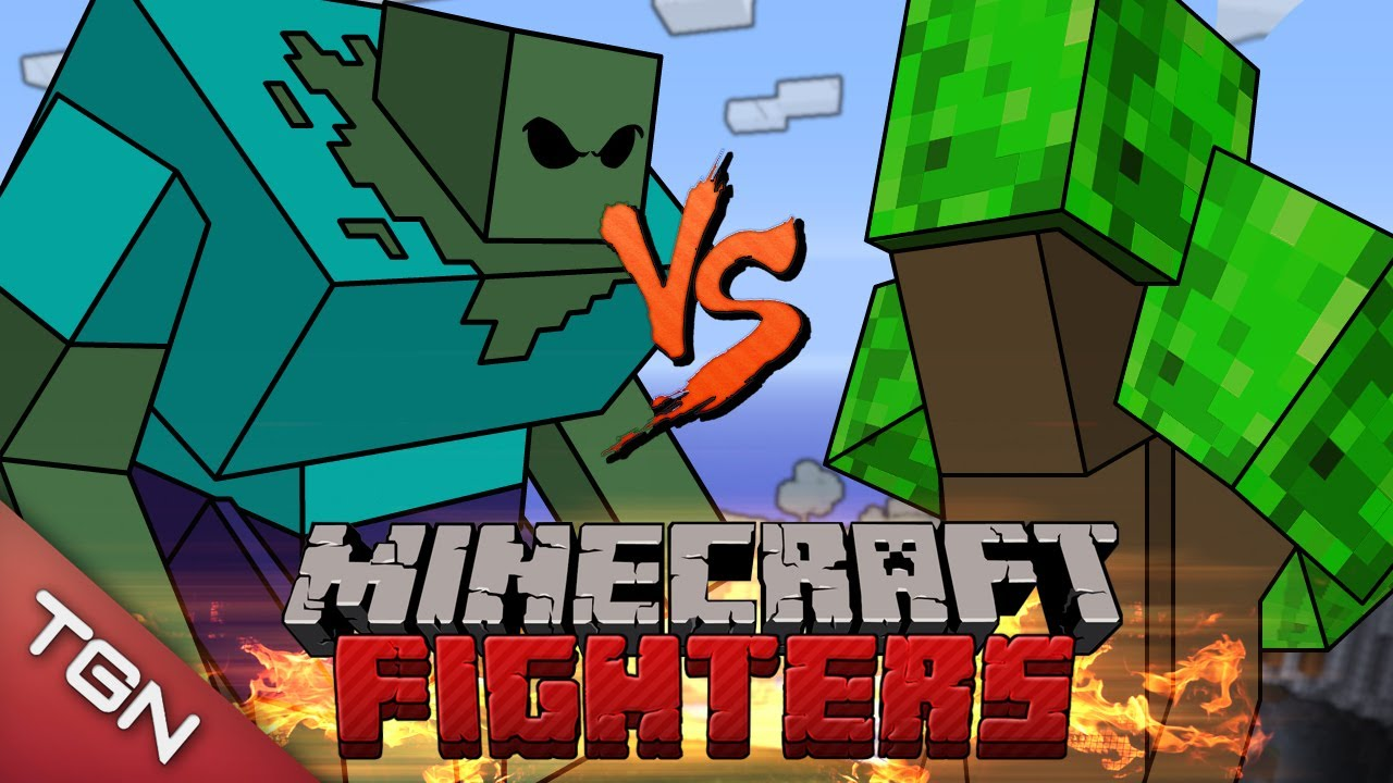 Minecraft fighters ent lord vs mutant zombie g1 youtube - Minecraft zombie vs creeper ...