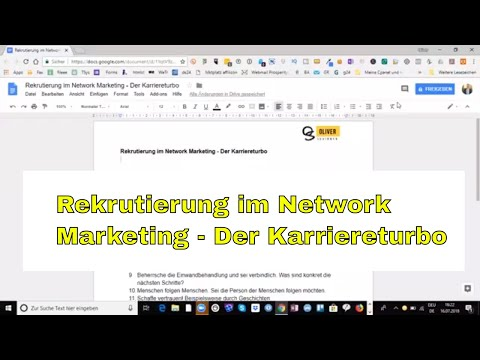 Rekrutierung im Network Marketing - Der Karriereturbo