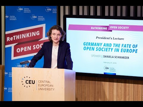 Daniela Schwarzer - Germany and the fate of Open Society in Europe, February 27, 2018