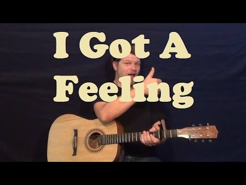 I Got A Feeling (Billy Currington) Guitar Lesson Easy Strum Chords How to Play Tutorial