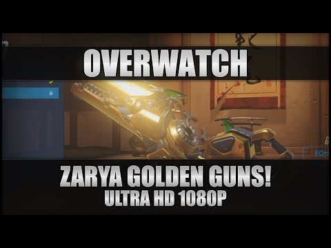 ♕ Overwatch - Zarya Golden Guns! - PC Ultra 1080p 60FPS