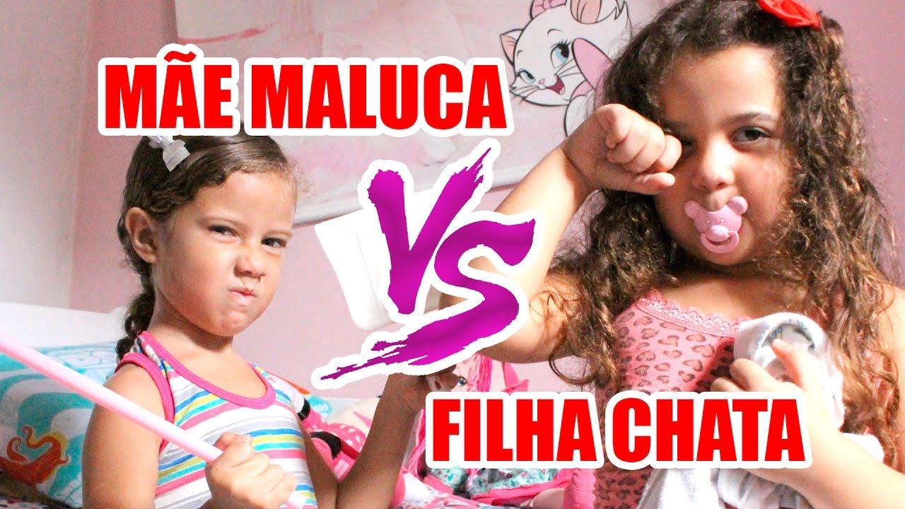 Mae Maluca Vs Filha Chata Parte 1 Youtube