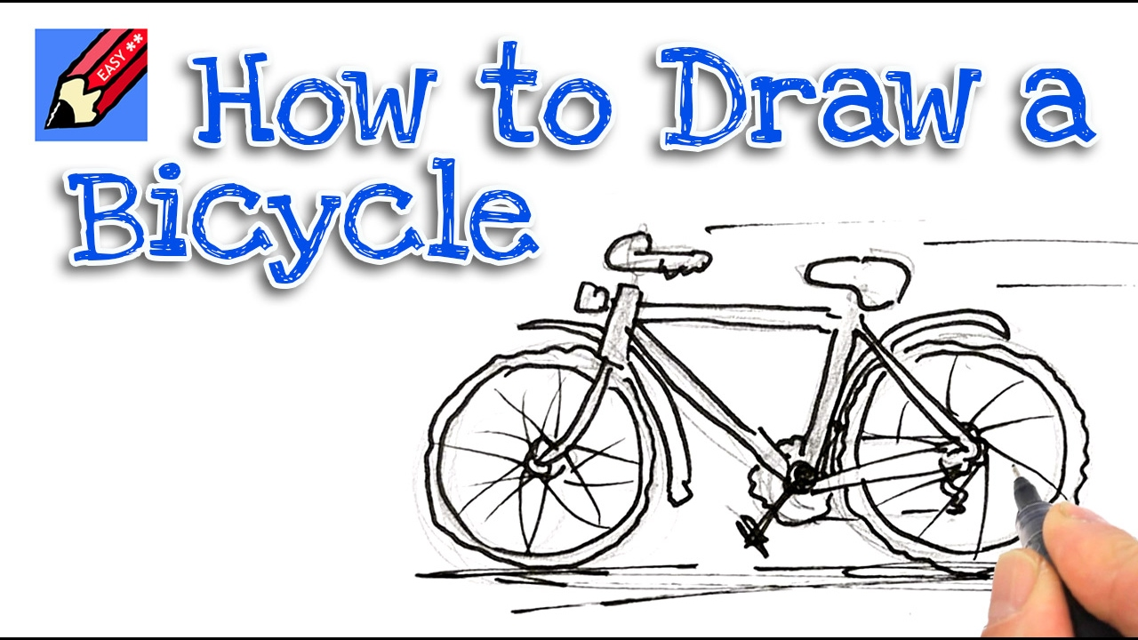 learn how to draw a bicycle real easy for kids and beginners