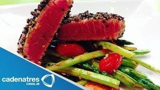 Receta de Filete de atún sellado / Receta de cómo preparar Filete de atún sellado