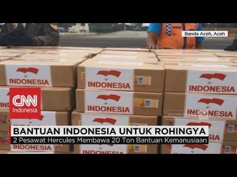 2 Pesawat Hercules Angkut 2 Ton Bantuan Kemanusiaan Indonesia Untuk Rohingya