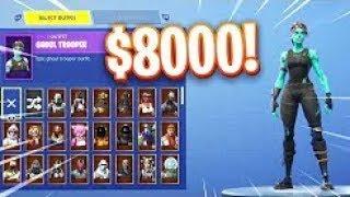My 8000$ Fortnite Locker Showcase! 300+ Skins & Emotes