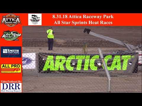 8.31.18 Attica Raceway Park All Star Sprints Heat Races