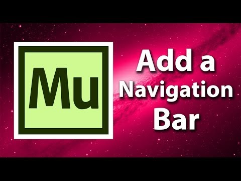 Adobe Muse Getting Started - Adding A Navigation Bar