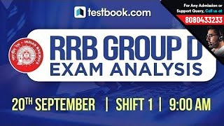 RRB Group D 2018 Exam Analysis | 20th September Shift 1 | Exam Review + Questions Asked