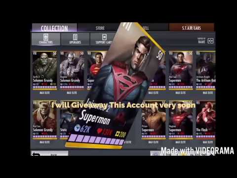 INJUSTICE 2.13!! How to get FREE All Characters & coins Elite 7 & lvl50 (iOS/android